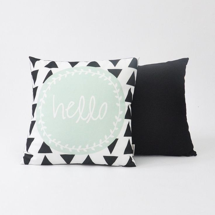 "Modern Decorative Pillow Set, Geometric Nursery Pillow, Kids Pillow, Throw Cushion, Mint Black Set 16"" x 16"" by LoveJoyCreate on Etsy https://www.etsy.com/listing/229411172/modern-decorative-pillow-set-geometric"
