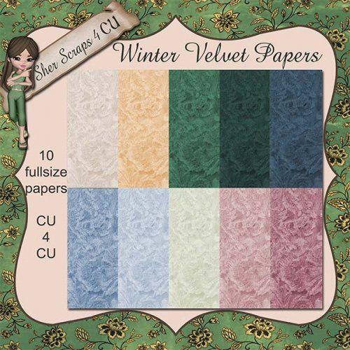 Winter Velvet Papers