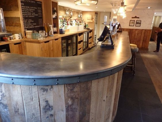 Beau Zinc Bar Top The Bonny Inn By John Rutter Via.