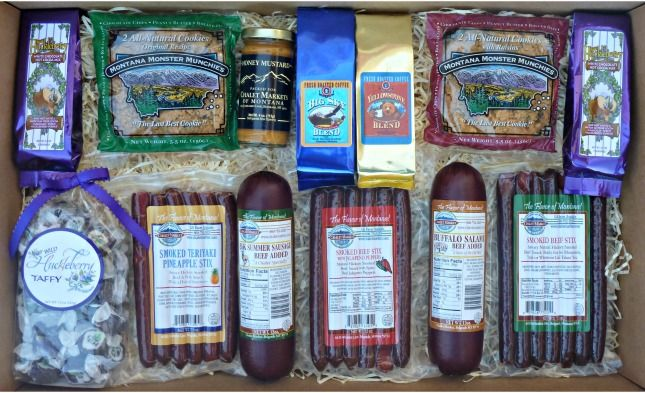 Something for Everyone Gift Box. Our most popular gift!  A great assortment of Montana specialty foods.  Packed with care in an extra-large gift box.  Made in Montana.