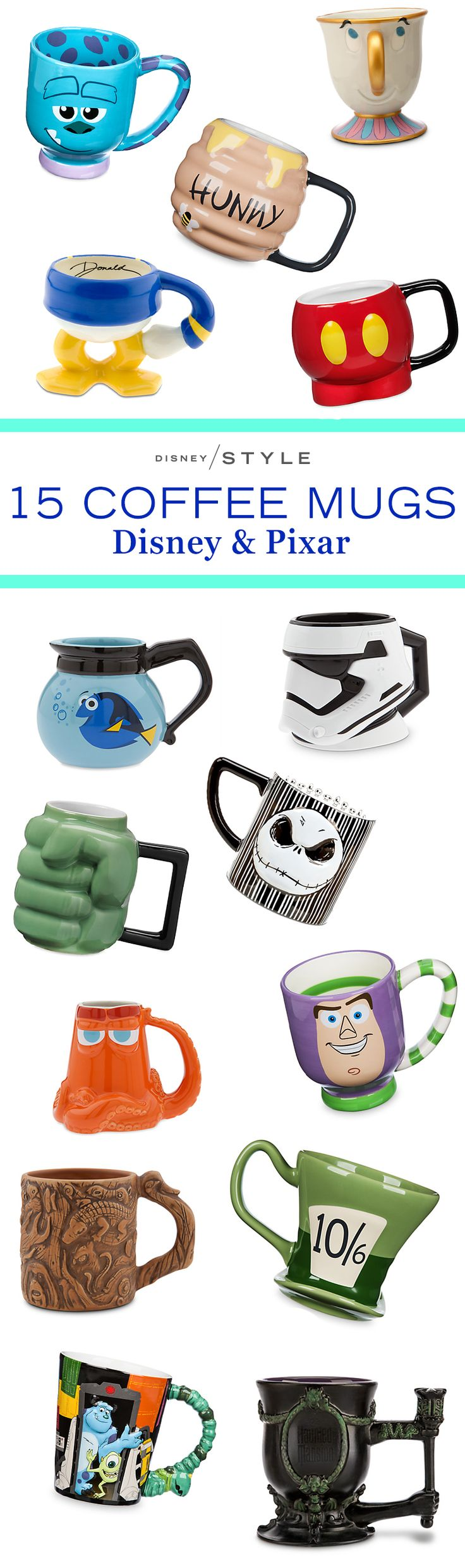 15 Disney & Pixar mugs to make a statement at work | Finding Dory + Toy Story + Star Wars + Winnie the Pooh + Mickey Mouse | [ http://di.sn/6006BIeaE ]