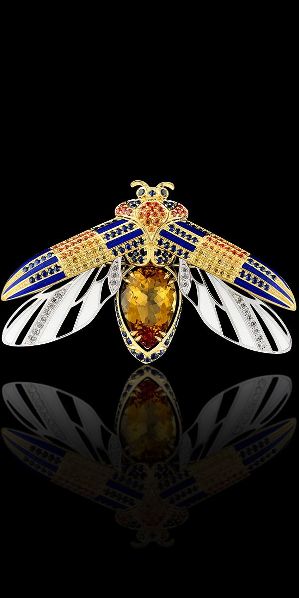 Master Exclusive Jewellery - Collection - World of insects White gold,gold,citrine,sapphires