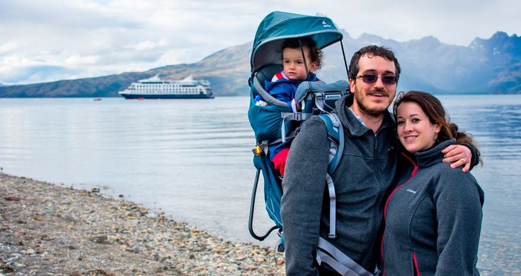 A cruise expedition through Patagonia is an excellent way to travel with family. Children enjoy adventure, nature and wildlife as much as their parents, or even more! #Patagoniacruises #CapeHornCruisesr #PatagoniaGlaciersAndFjords #FamilyTravel #Wanderlust #HappyTravelers #TravelWithChildren