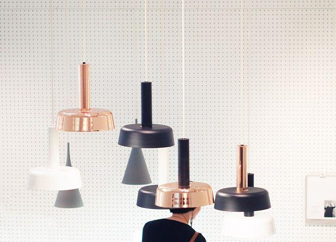 Café pendant lights by Pauli Partanen for Innolux.