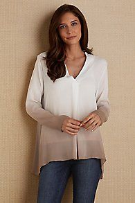 Gianna Ombre Silk Top