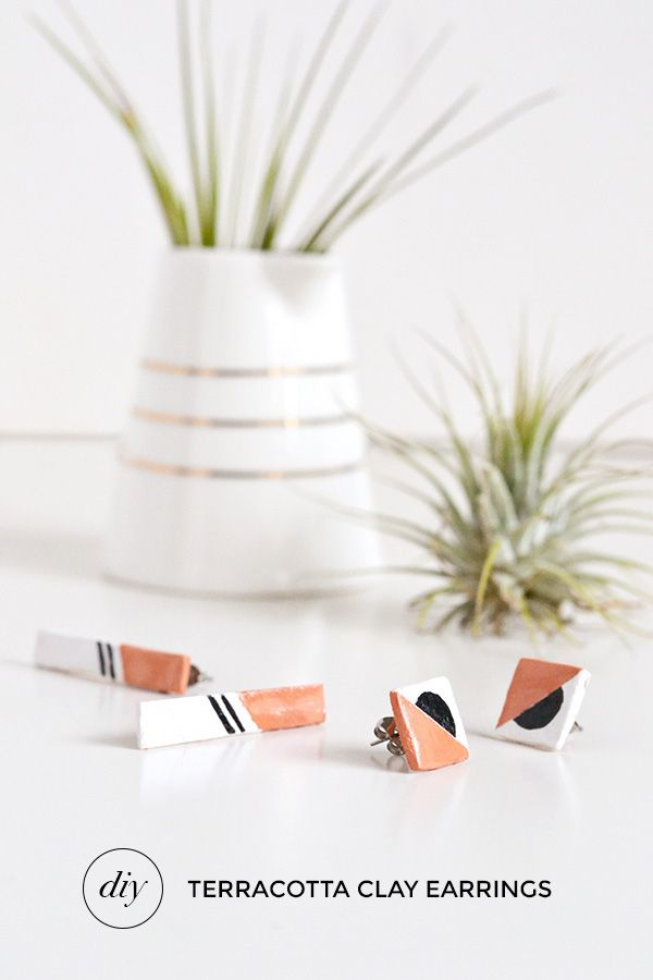 DIY terracotta clay earrings | Make and Tell