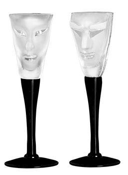 Kubik/Electra snapsglas clear, 2-pack