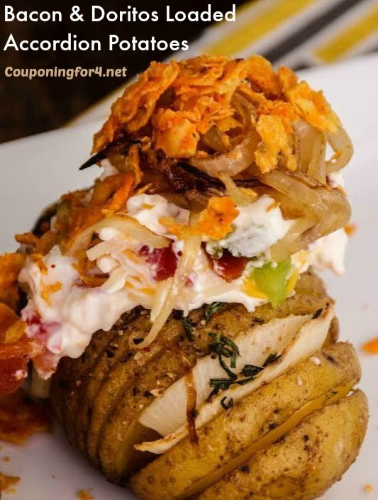 These easy Bacon And Doritos Loaded Accordion Potatoes are about to make your next meal much more exciting! This loaded hassleback baked potatoes recipe is one that you're going to want to make  ...