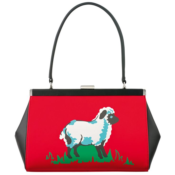 Sheep Placement Leather Frame Handbag | Leather Bags | CathKidston