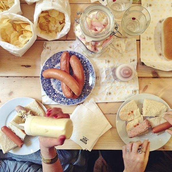 PhotoCredit by @Gnam Box  Happy #Brunch with #peck wurstel.