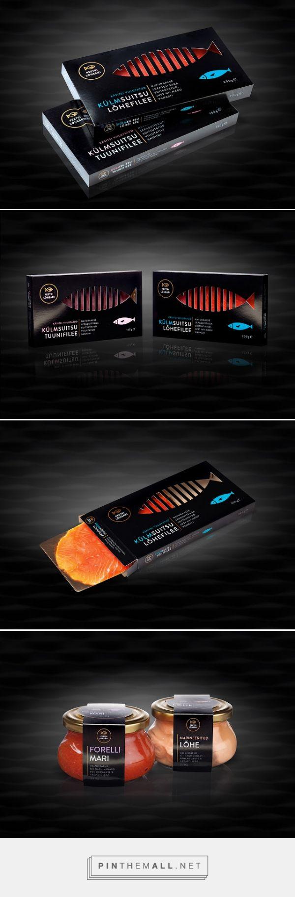 Peetri Lõheäri #Fish #Packaging designed by Koor - http://www.packagingoftheworld.com/2015/04/peetri-loheari-fish-packaging.html