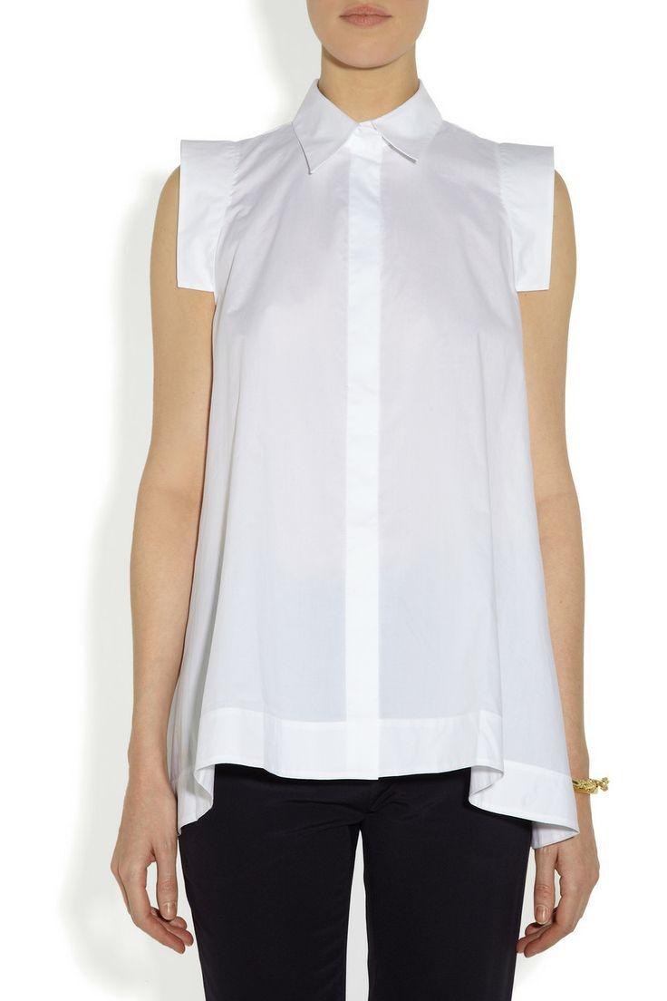 MarniCotton-poplin A-line shirtfront
