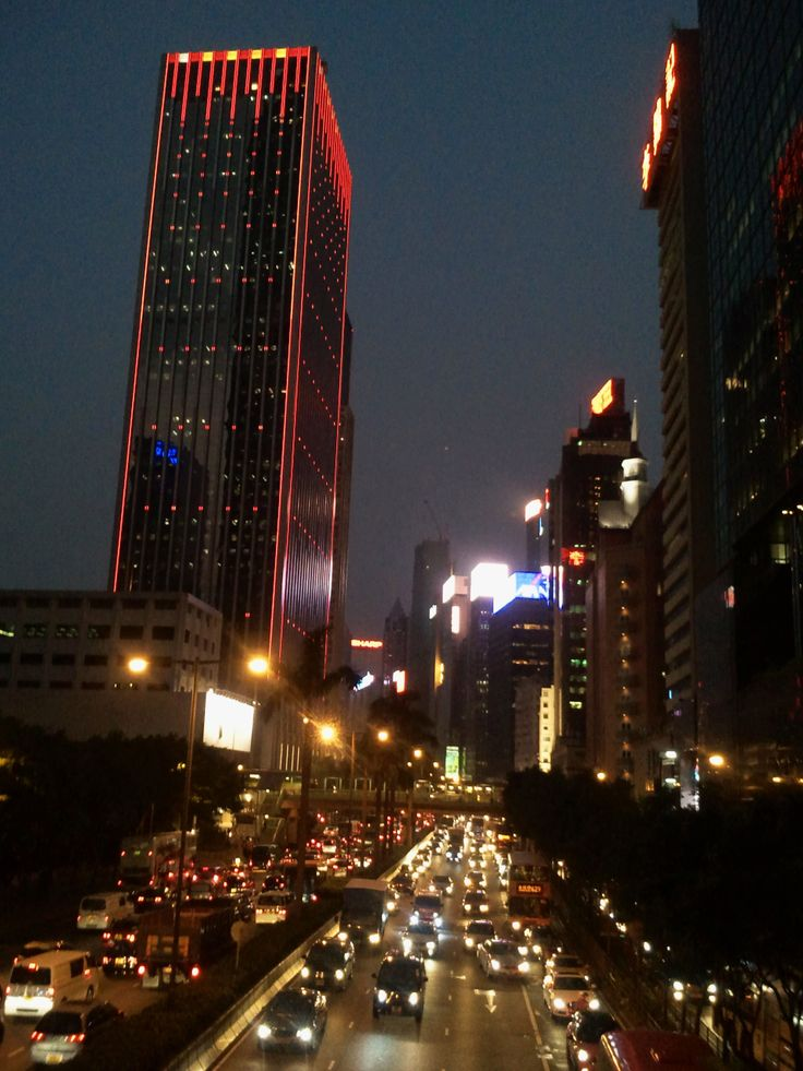Wanchai, Hong Kong at night