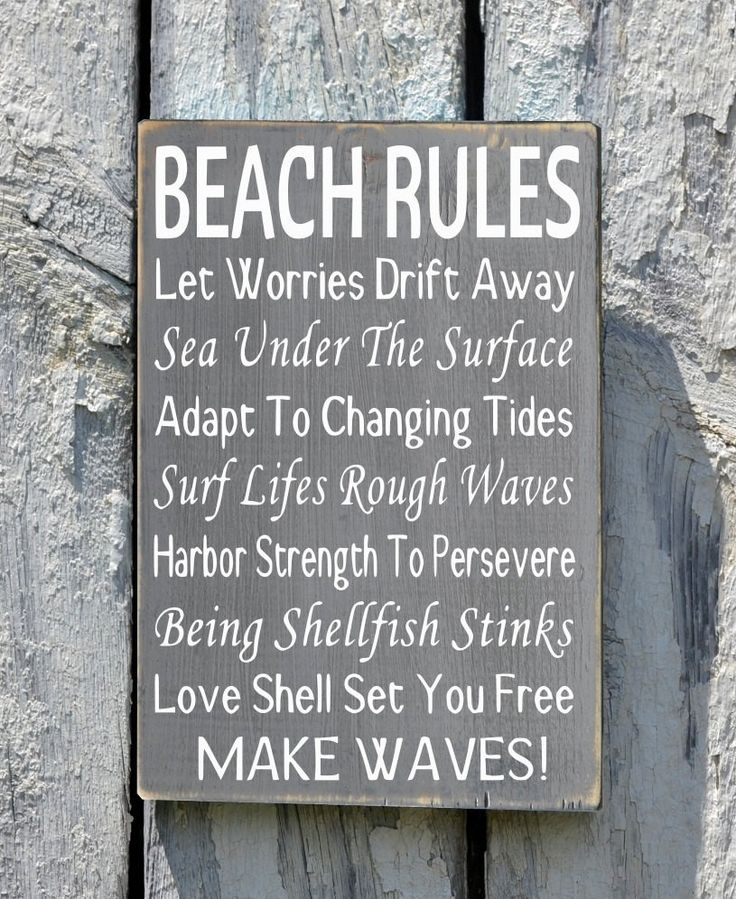 Personalized Beach House Plaques: Best 20+ Beach Rules Ideas On Pinterest