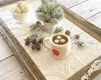 Handmade Tray Decoration Pleasing 27 Best Tray Decor Ideas Images On Pinterest  Trays Serving Inspiration