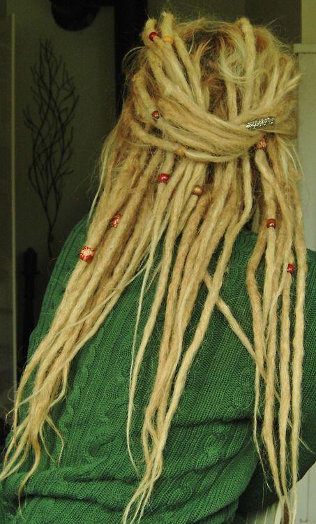 Womens Long Hair - Dreads - Blonde - Half Upstyle www.doctoredlocks... @Kelsey Myers Myers Blessman #HairCare #BeautifulHair