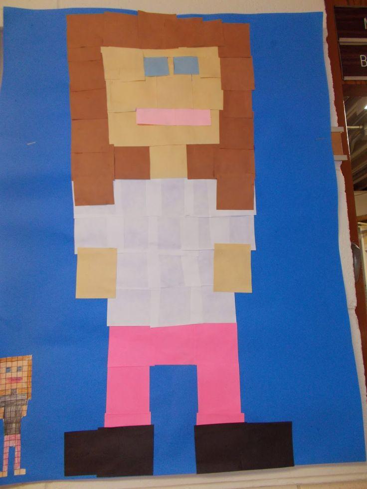 polka dot spot  pixel self portraits i promised 6th grade