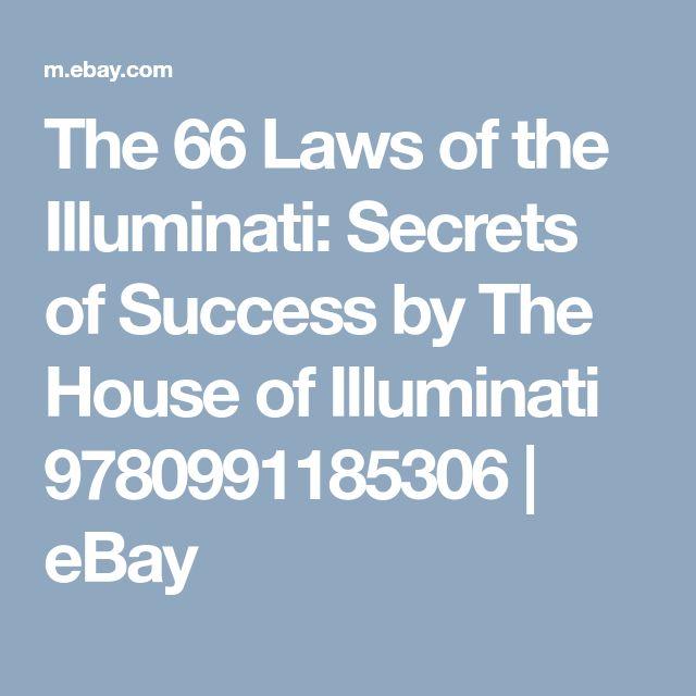 The 66 Laws of the Illuminati: Secrets of Success by The House of Illuminati 9780991185306   eBay