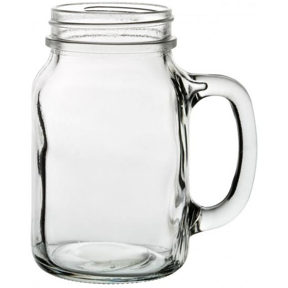 Utopia 'Tennessee' Handled Jam Jar Glass