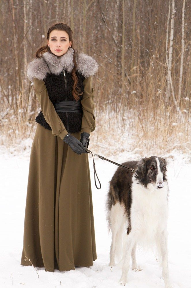 Russian lady with borzoi. #borzoi #dogs #Russian