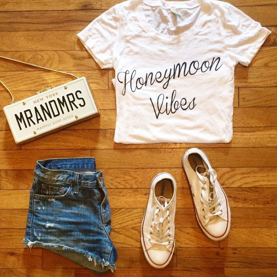 Honeymoon Vibes T-shirt by TheDailyTay on Etsy
