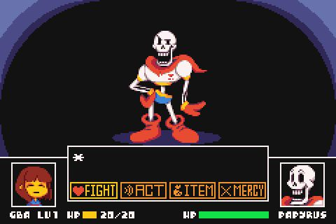Undertale Advance Mockup!(I would love to play it on a Game Boy Advance :'D )<More works>
