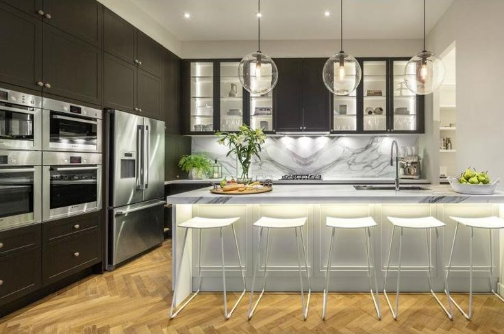 """Open kitchen from reality TV show """"The Block"""" in Australia (via Desire to Inspire)."""