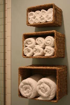 Simple-south wall above towel rack