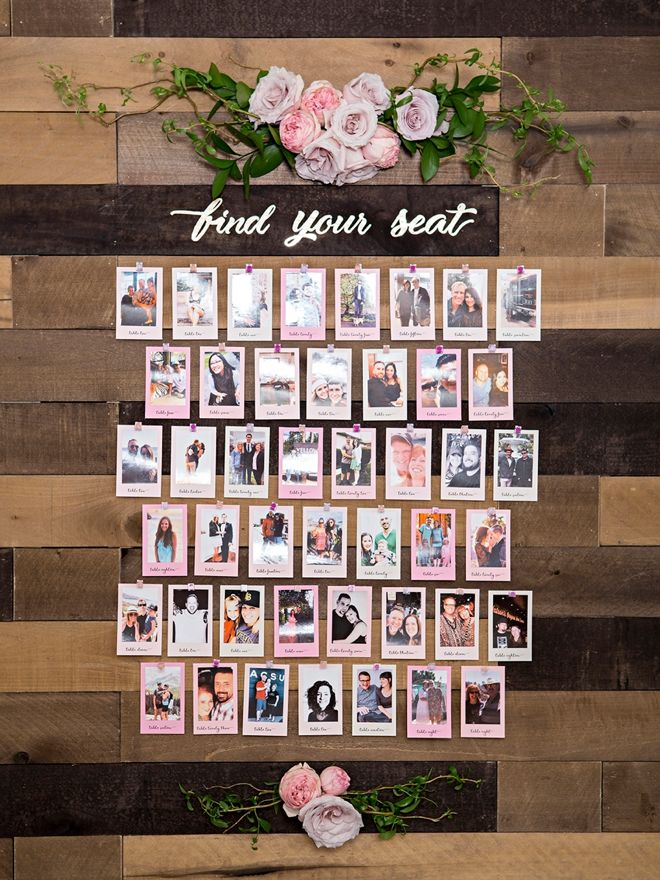 This DIY Photo Seating Chart Display Is