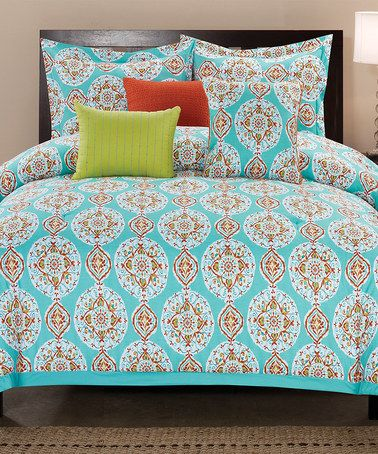 Love this Teal Seraphina Comforter Set on #zulily! #zulilyfinds