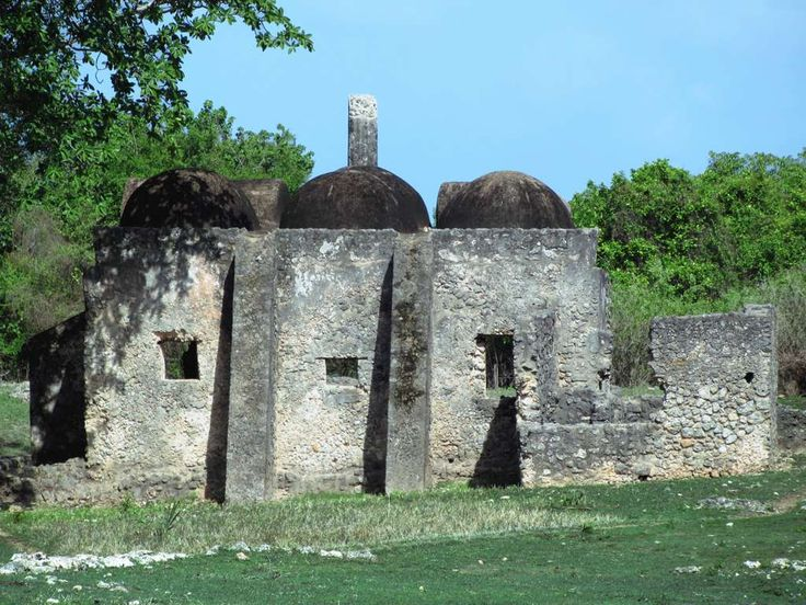 The Small Domed Mosque on Kilwa Kisiwani Island, Tanzania, dates from the 15th century when a Swahili sultanate was based here.