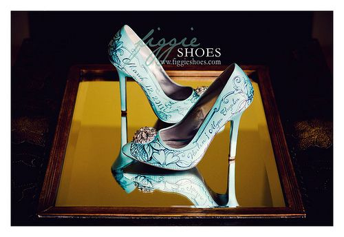 Figgie shoes...lovely #DBBridalStyle