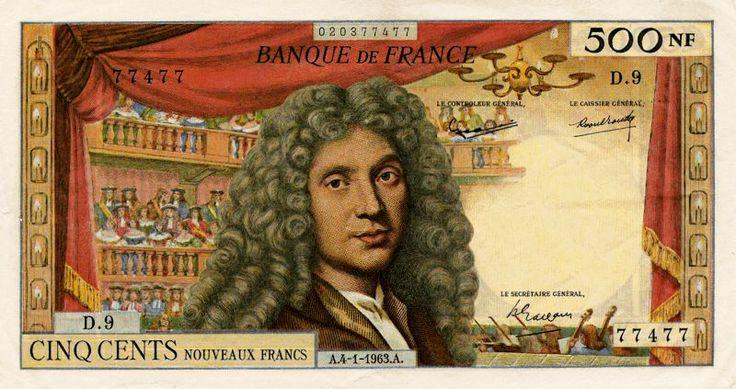 Collection Billet Banque de France - F.60 - 500 nouveaux francs Molière