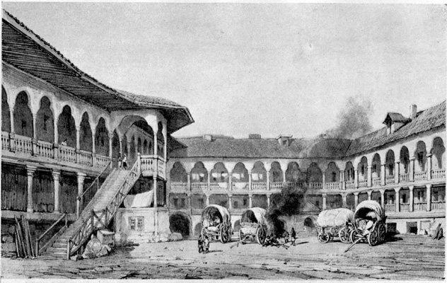 Bucuresti - Hanul lui Manuc - 1860