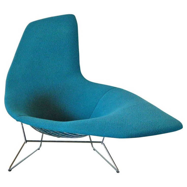 Harry bertoia asymmetric chaise by knoll for Bertoia asymmetric chaise