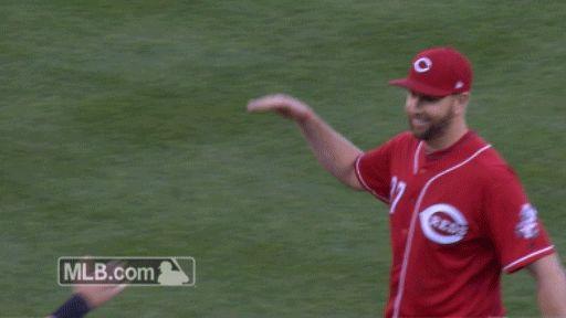 New party member! Tags: baseball mlb hug reds cincinnati reds bro hug feldman man hug barnhart scott feldman tucker barnhart