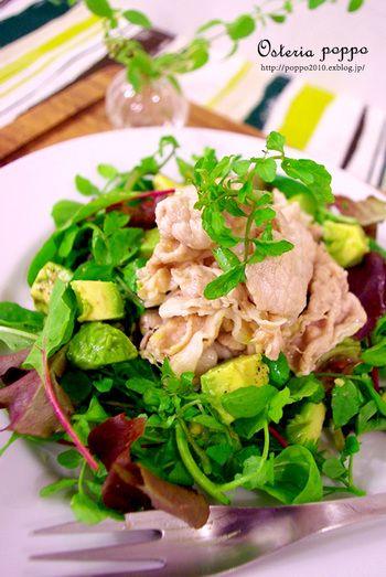 キレイに痩せたいならやっぱり生野菜♪毎日食べたい「おかずサラダ」の ... 豚しゃぶおかずサラダ