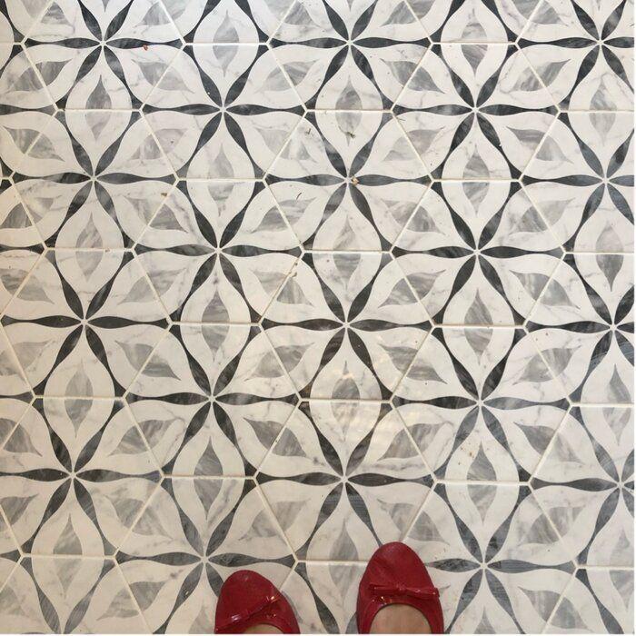 Karra 7 X 8 Porcelain Patterned Wall Floor Tile House Bathroom Designs Tile Floor Patterned Floor Tiles