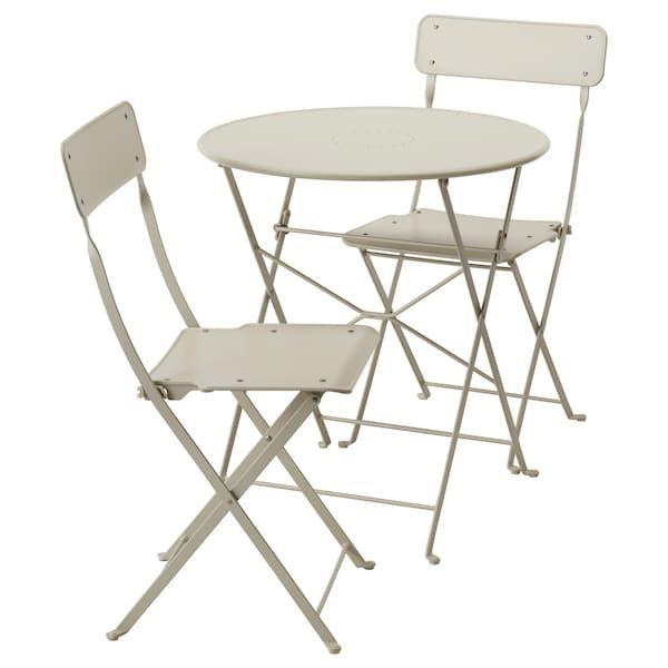Saltholmen Mesa 2sill Pleg Ext Beige Ikea Chaise Pliante Exterieur Chaise Pliante Table Et Chaises De Jardin