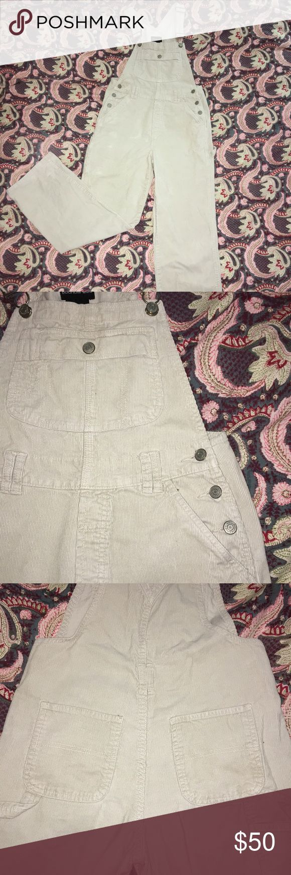 """""""Vintage"""" Corduroy Overalls These vintage overalls are a nice corduroy material! The beige color matches with just about anything you can find in your closet! They are super comfy and can spice up any outfit, giving it a vintage feel. No Boundaries Pants Jumpsuits & Rompers"""