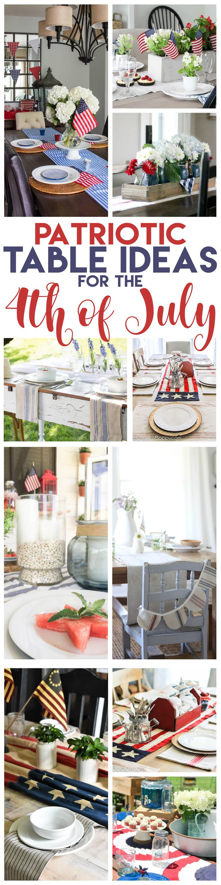 July 4th Decor with a muted pallet with a European twist. Adding that patriotic color scheme, but with Italian dessert and french bistro decorating.