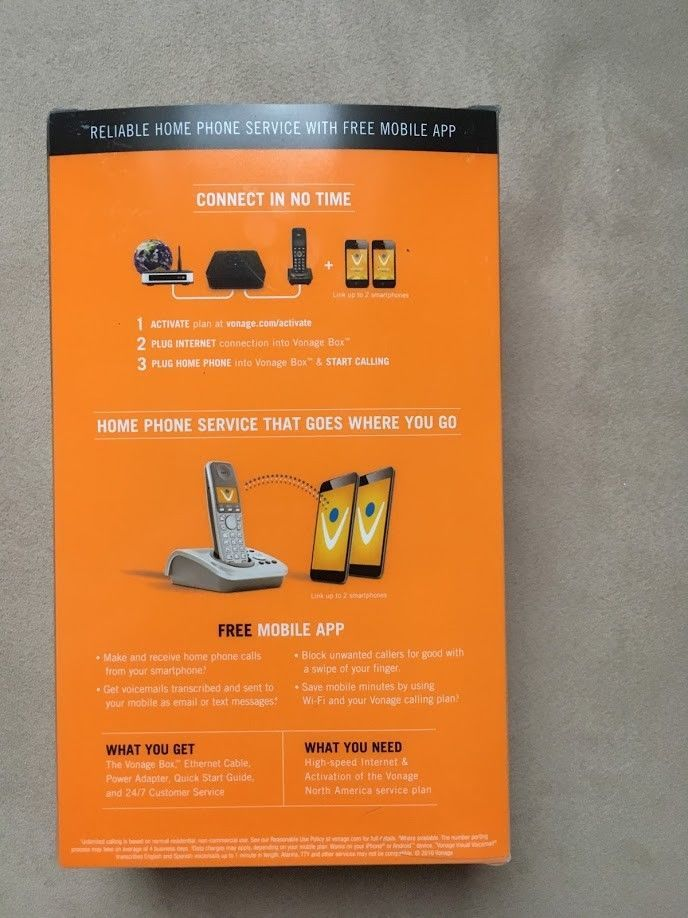 Free Home Phone Service >> Vonage Ht802 Vd Home Phone Service Sl 802vdgng Us Voip