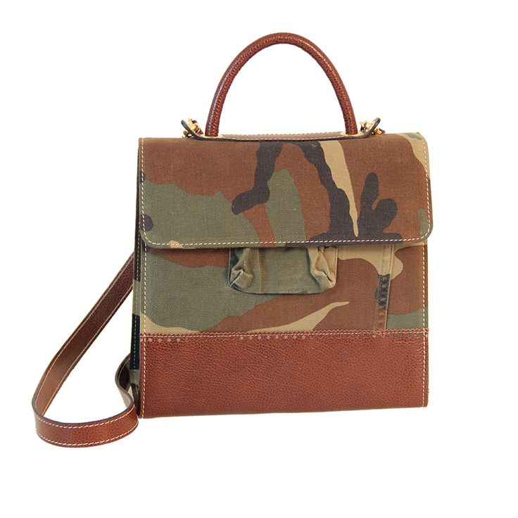 Eco-Bag anni 50 Military from recycled materials - Zyz Ecodesign