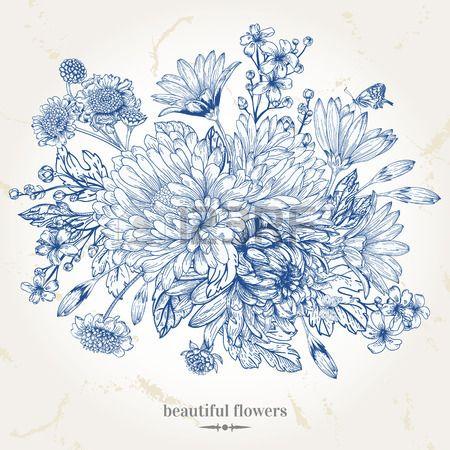 17 meilleures id es propos de dessin bouquet de fleurs for Pinterest flur