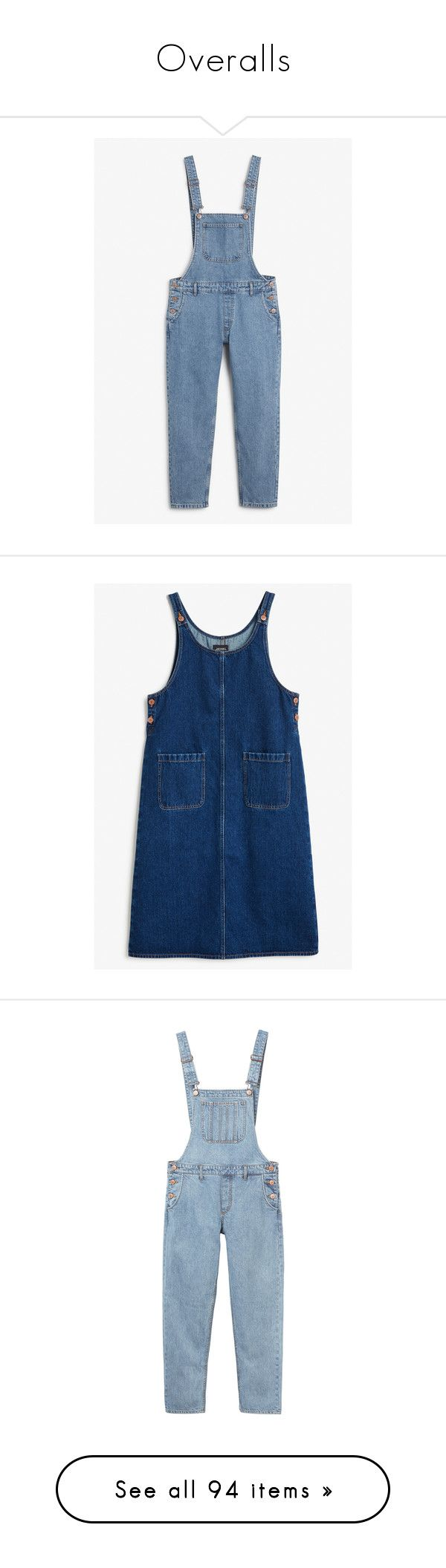 """""""Overalls"""" by stellacolor21 ❤ liked on Polyvore featuring jumpsuits, open back jumpsuit, cocktail jumpsuit, blue jumpsuit, holiday jumpsuits, denim jumpsuit, dresses, blue dress, blue denim dress and monki"""
