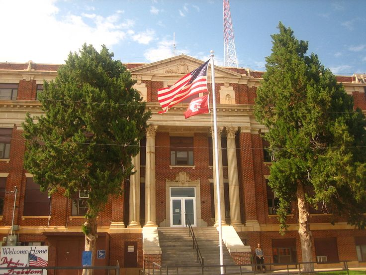 Hall County Courthouse in Texas.