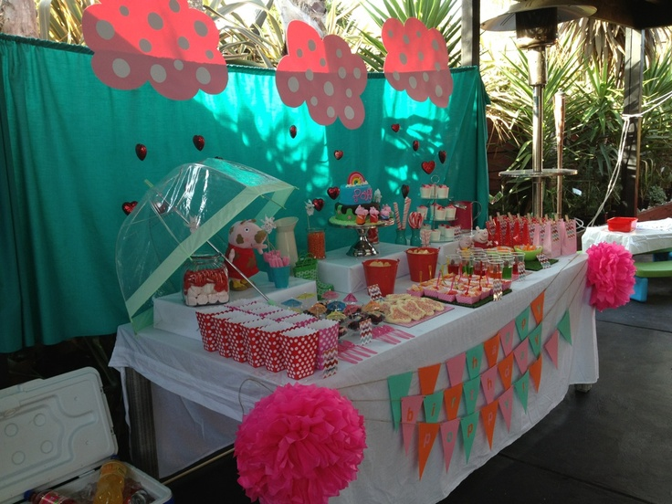 peppa pig themed birthday styled by my sister and I.