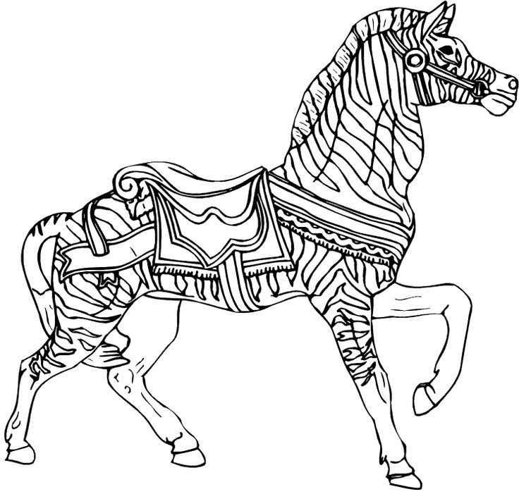 Carosel coloring page google search coloring book for Carousel horse coloring page