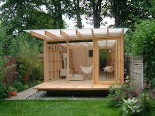 Clearly I need a writing retreat in my backyard. Ullmayer Sylvester Summerhouse