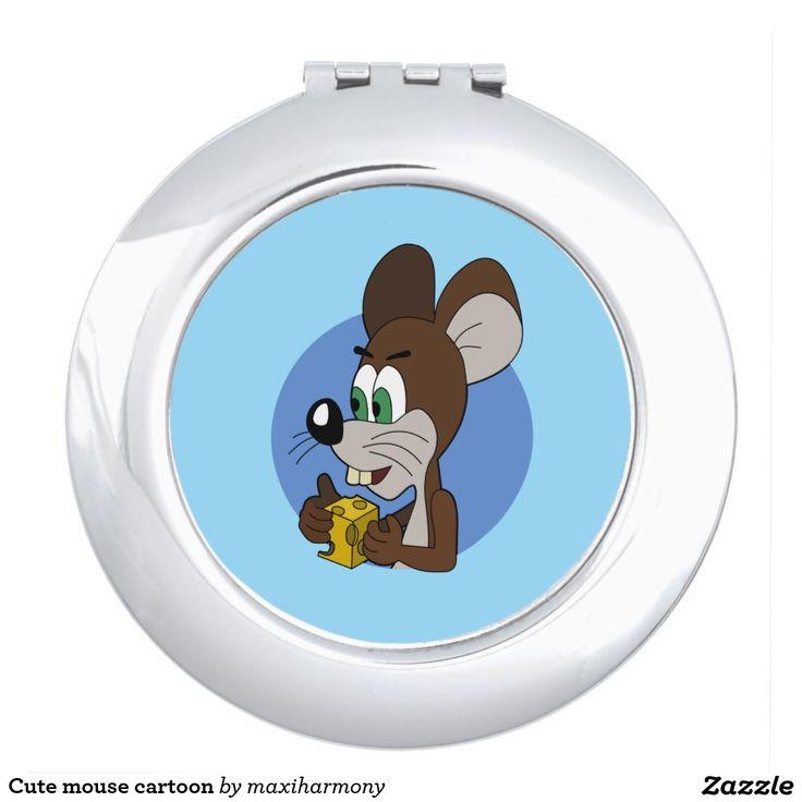 Cute mouse cartoon travel mirrors